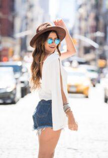 Blusa Branca e Short Jeans. Básico?