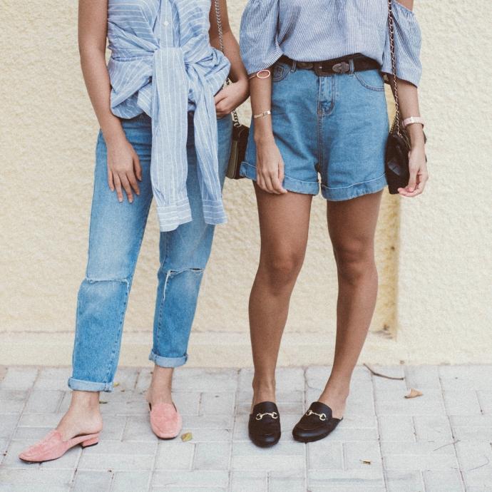 looks com flat mules