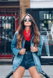 Jaqueta Jeans e Coturno: Look do dia
