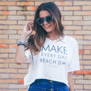 Look do Dia: Saia jeans com botões na frente
