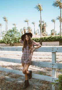 Vestido Xadrez – Look do dia em Palm springs